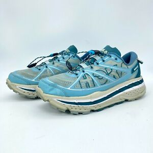 Hoka One One Womens Stinson ATR Aqua Blue & Gray Running Shoes Size US 7.5