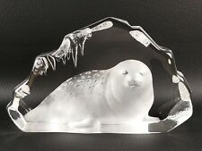 Large Mats Jonasson Crystal SEAL Sweden Retired Signed