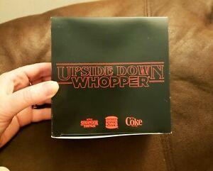 Stranger Things Upside Down Burger King Whopper Box RARE New Condition BK NYC