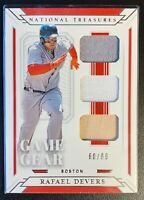 2019 Panini National Treasures RAFAEL DEVERS Triple Jersey Patch Bat Relic /99