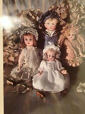 PATTERNS COLLECTION ANTIQUE FRENCH GERMAN ALL BISQUE MIGNONETTE 13-22 cm DOLL