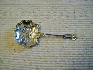 STERLING SILVER SLOTTED SERVING SPOON LADLE- PAT. 1893