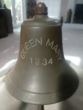 "Antique Nautical Queen Mary 1934 Bronze Ship's Bell ""Great Patina"""
