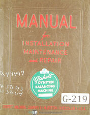 Gisholt  Static Balancer Machine, Operations and Maintenance Manual 1951