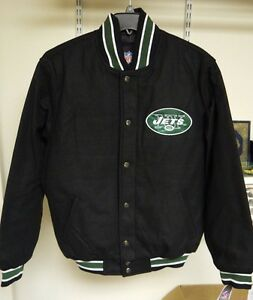 Official NFL Team Apparel NY Jets Jacket Men's Size M or XL- NWT- Black Wool