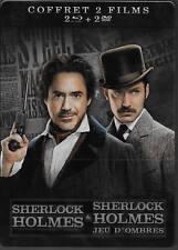 COFFRET COLLECTOR METAL BLU RAY + DVD--SHERLOCK HOLMES & SHERLOCK HOLMES 2