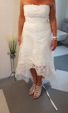 Brautkleid Standesamt Hochzeitskleid A-Linie Gr.40 aus Tüll in Elfenbeinfarbe