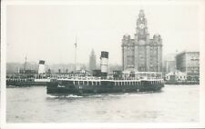 Postcard shipping Mersey ferry Bidston  Friends of the Ferries card