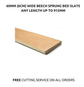 60mm 6cm Wide Beech Replacement Curved Wooden Bent Sprung Bed Slats 915mm Long