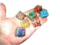 Jet Orgone Chakra 7 Set Pyramid Cube Free Booklet Crystal Therapy