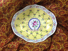 """Royal Danube 1886 Yellow Adeline Large 7.5"""" x 6"""" x 2""""  Oval Tray / Bowl"""