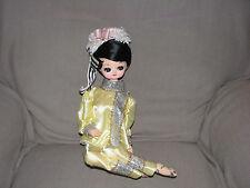 Bradley Artmark Boudoir Doll Big Eyes Yellow Kimono Asian Asia Sitting