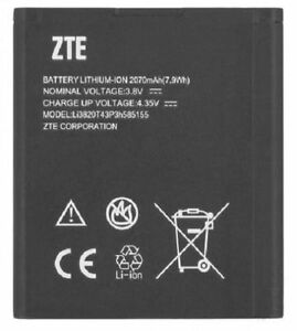 NEW OEM ZTE Li3820T43P3h585155 N9510 Warp 4G N9511 SOURCE Z796C Majesty Battery