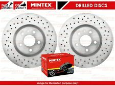 FOR LEXUS IS220 IS220D IS250 SPORT IS300 FRONT DRILLED BRAKE DISCS MINTEX PADS