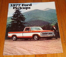 Original 1977 Ford Pickup Sales Brochure F-100 F-150 F-250 F-350 Ranger Truck