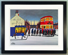 """JACK KAVANAGH """"GOING TO THE MATCH"""" EVERTON FRAMED PRINT"""