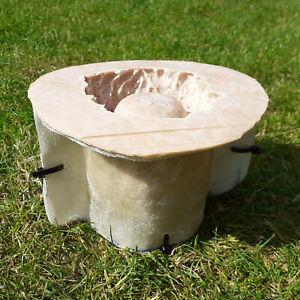 LATEX AND FIBREGLASS MOULD 10cm Garden Planter Pot Green Man Novelty Tree Stump
