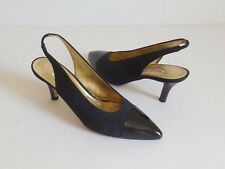 Walter Steiger Pointed-Toe Slingback Shoes Size 9AA Made in Italy