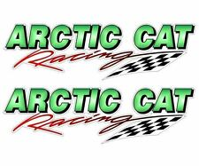 """2 Mini 5"""" ARCTIC CAT Racing Decal Graphics for Snowmobile Hood Cowl or Trailer"""