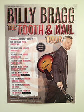 BILLY BRAGG 2014 Australian Tour Poster A2 Tooth & Nail Inc 2nd SYDNEY SHOW *NEW