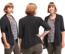 Roman Fashion Womens Plus Size Cardigan Top animal Print Size 3XL