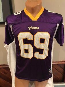 VINTAGE Jared Allen Minnesota Vikings Youth Lg Purple Reebok Jersey, VERY NICE!