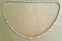 "Women's 14K White Gold Over 24.00 Ct Tennis Necklace 20"" Round Cut Diamond"