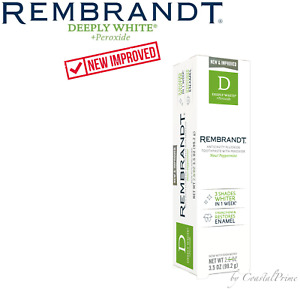 NEW Rembrandt D 3.5 oz Deeply White + Peroxide Whitening Toothpaste / PEPPERMINT