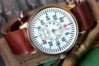Raketa Mens Mechanical Watch Sturmanskie Pilot Military Watch new strap Serviced