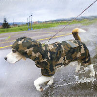 Reflective Dog Rain Coat Waterproof Hoodie Clothes Small Medium Dogs Jacket Coat