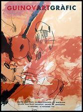 Josep Guinovart Galeria Joan Prats Poster Plakat Bild im Alu Rahmen 56x76cm