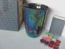 Partylite Mystic Glimmer Hurricane Lamp W/ Tealight Tree And 15 Tealights - Mib
