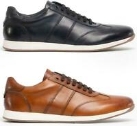 Base London SONIC Mens Genuine Smooth Leather Casual Lace Up Trainers Shoes
