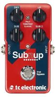 New TC Electronic SubnUp Polyphonic Octave Guitar Effects Pedal Sub n Up
