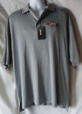 Men's Gray Polo Shirt Size Large Busch NASCAR  NWT