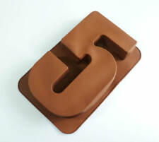 Large Silicone Number 5 FIVE Age Cake Tin Mould Birthday Anniversary Baking Pan