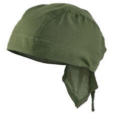Mil-Tec 100% Cotton Bandana - Headwear Classic Military Cut Scarf Olive OD Green