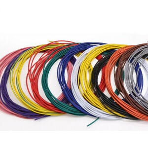 5 Meter UL1007 Stranded Wire Cable of 12 Colour 16/18/20/22/24/26/28/30 AWG