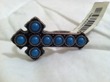 NWT Forever 21 Turquoise Cross Double Ring