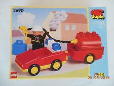 LEGO DUPLO 2690 - VEHICULE POMPIERS - NEUF DANS BOITE SCELLEE - ANNEE 1995