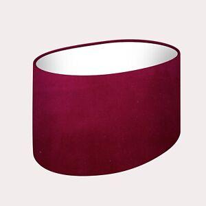 Lampshade Burgundy Velvet Oval Light Shade