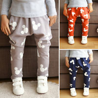 Kids Boy Girl Mickey Bottoms Loose Harem Pants Casual Jogger Sweatpants Trousers