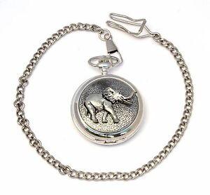 Elephant Pocket Quartz Watch Gift Boxed FREE ENGRAVING Wildlife Gift 116
