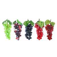 Lifelike Artificial Grapes Plastic Fake Fruit Food Tabletop Home Garden Decor