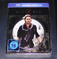 WORLD WAR Z EXTENDED ACTION CUT NOVOBOX / STEELBOOK EDITION BLU RAY NEU & OVP