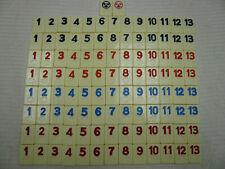 Set 106 Replacement Tiles Rummikub Game Pressman Complete Numbers Rummy Orange