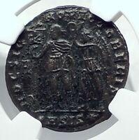 VETRANIO inname of CONSTANTIUS II HOC SIGNO VICTOR ERIS Roman Coin NGC i79185