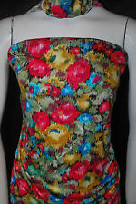 Modal 100% Knit Jersey Fabric Ecofriendly Beautiful Flowers multicolor