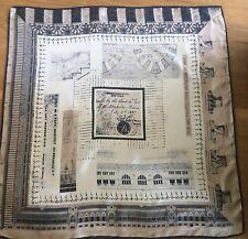 Beautiful Vintage THE METROPOLITAN MUSEUM OF ART Architecture Print Silk Scarf