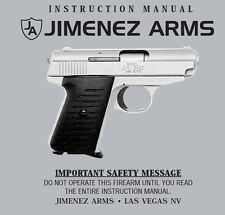 Jimenez 380 Pistol Instruction and Maintenance Manual
